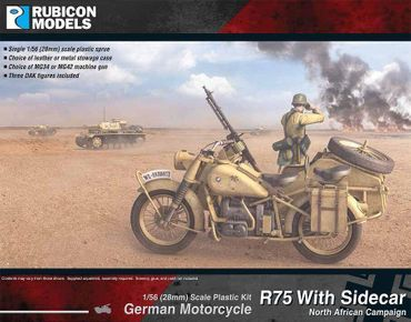 German Motorcycle R75 with Sidecar (DAK) 1/56 (28mm) – Bild 1
