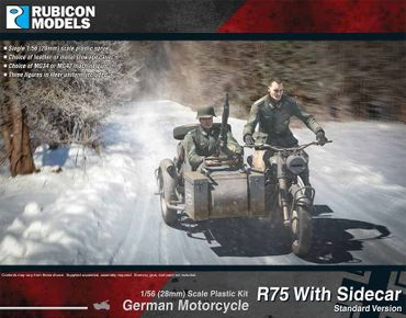 German Motorcycle R75 with Sidecar (ETO) 1/56 (28mm) – Bild 1
