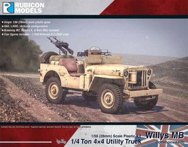 Willys MB 1/4 Ton 4x4 Truck Commonwealth 1/56 (28mm) – Bild 1