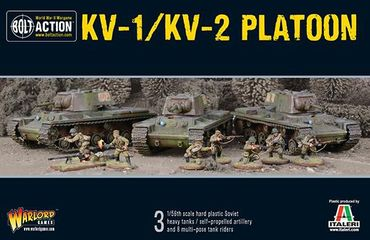 Soviet KV-1 / KV-2 Heavy Tanks Platoon 28mm – Bild 1