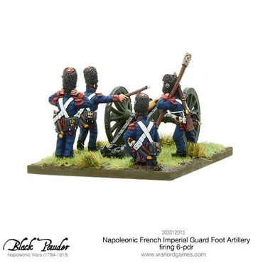 Napoleonic French Imperial Guard Foot Artillery firing 6-pdr 28mm – Bild 4
