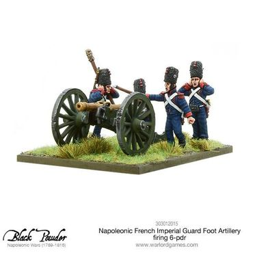 Napoleonic French Imperial Guard Foot Artillery firing 6-pdr 28mm – Bild 1
