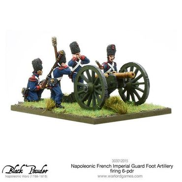 Napoleonic French Imperial Guard Foot Artillery firing 6-pdr 28mm – Bild 2