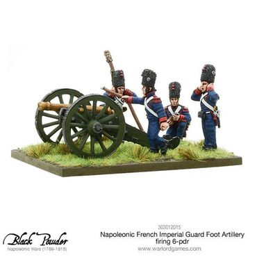 Napoleonic French Imperial Guard Foot Artillery firing 6-pdr 28mm – Bild 3