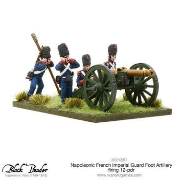 Napoleonic French Imperial Guard Foot Artillery firing 12-pdr 28mm – Bild 1