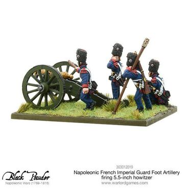 Napoleonic French Imperial Guard Foot Artillery firing Howitzer 28mm – Bild 1