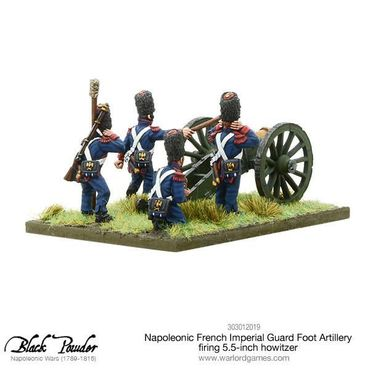Napoleonic French Imperial Guard Foot Artillery firing Howitzer 28mm – Bild 2