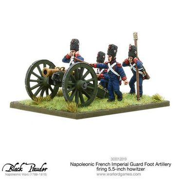 Napoleonic French Imperial Guard Foot Artillery firing Howitzer 28mm – Bild 3