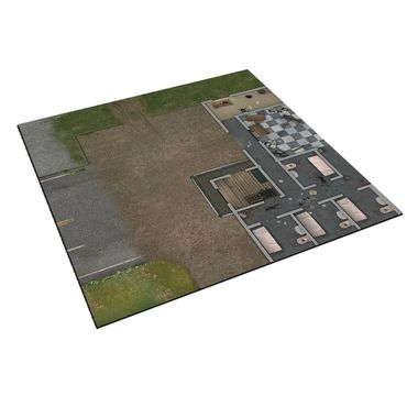 The Walking Dead Prison Grounds Deluxe Gaming Mat All Out War