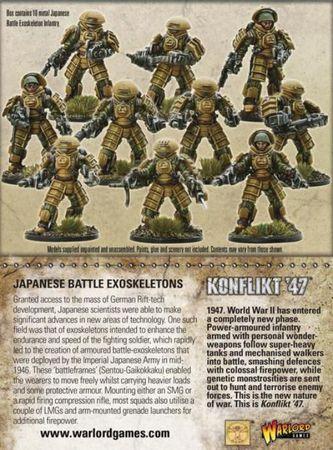 Konflikt 47 Japanese Battle Exoskeleton Squad 28mm – Bild 4