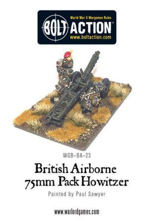 British Airborne 75mm Howitzer and Crew 28mm – Bild 3