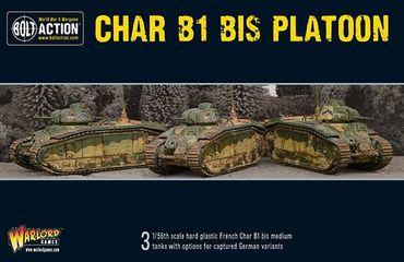 Char B1 Bis Platoon 28mm  – Bild 1