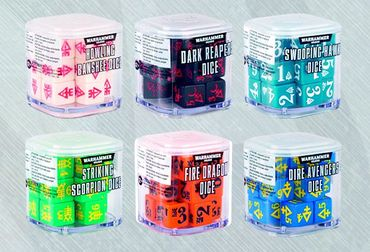 Craftworlds Aspect Warrior Dice BUNDLE 6 Würfel Sets – Bild 1
