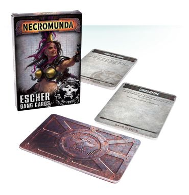 Necromunda Esher Gang Tactical Cards (Deutsch)