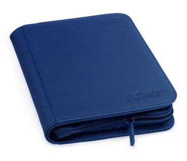 4-Pocket Zipfolio XenoSkin Dark Blue