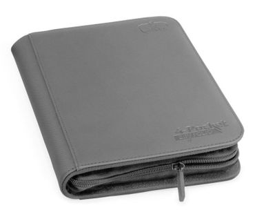 4-Pocket Zipfolio XenoSkin Grey