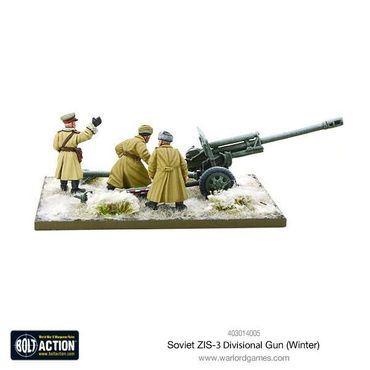 Soviet ZIS-3 Divisional Gun (Winter) 28mm – Bild 3