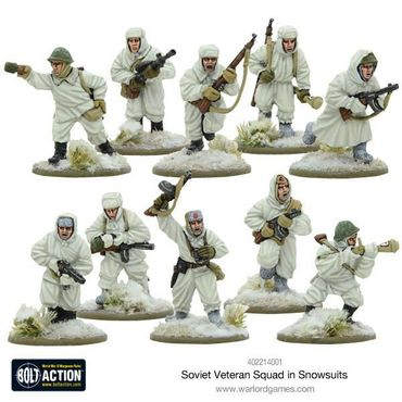 Soviet Veteran Squad in Snowsuits 28mm – Bild 2
