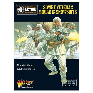 Soviet Veteran Squad in Snowsuits 28mm – Bild 1