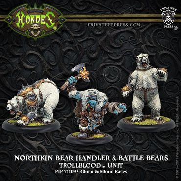 Trollbloods Bear Handlers and Battle Bears Unit