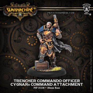 Cygnar Trencher Commando Officer Unit