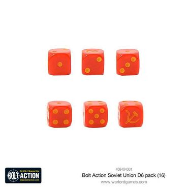 Bolt Action Soviet Union W6 D6 Dice Pack (16) – Bild 2