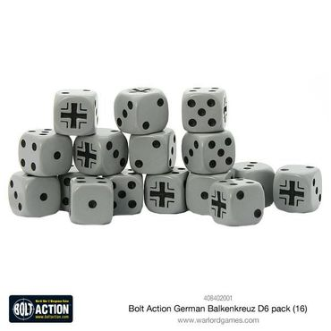 Bolt Action German Balkenkreuz W6 D6 Dice Pack (16) – Bild 1