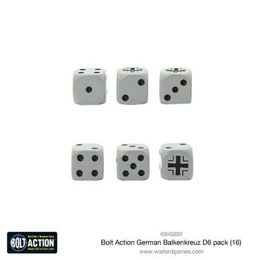 Bolt Action German Balkenkreuz W6 D6 Dice Pack (16) – Bild 2