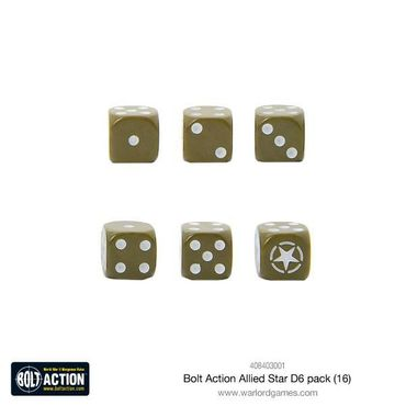 Bolt Action Allied Star W6 D6 Dice Pack (16) – Bild 2