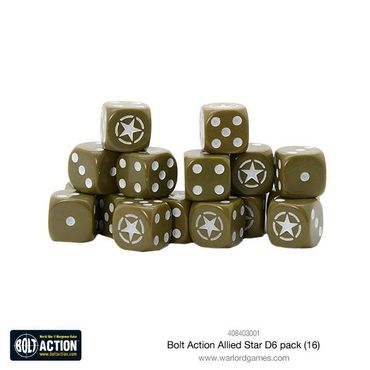 Bolt Action Allied Star W6 D6 Dice Pack (16) – Bild 1