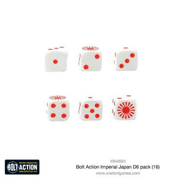 Bolt Action Imperial Japanese W6 D6 Dice Pack (16) – Bild 2
