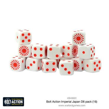 Bolt Action Imperial Japanese W6 D6 Dice Pack (16) – Bild 1