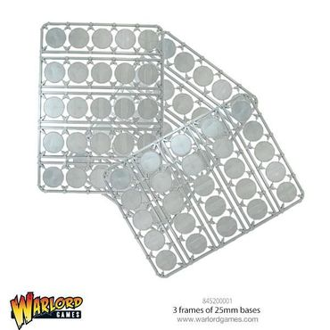 Warlord Games 3 frames of 25mm Bases round (75)
