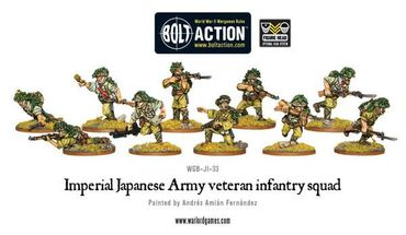 Imperial Japanese Army Veteran Infantry Squad 28mm