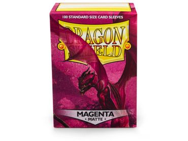 Dragon Shield Matte Magenta 100 protective Sleeves