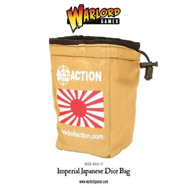 Bolt Action Imperial Japanese Army Dice Bag and White Order Dice (12)