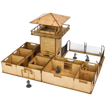 The Walking Dead The Prison Scenery Set All Out War