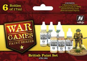 Model Color WWII Wargames Series British Paint Set (6)