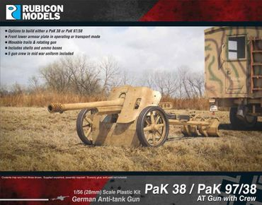PaK 38 / PaK 97/38 AT Gun with Crew 1/56 (28mm)