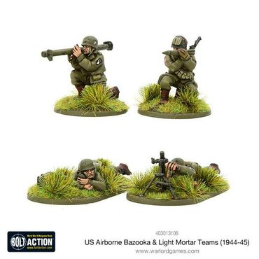 US Airborne Bazooka and Light Mortar Teams (1944-45) 28mm