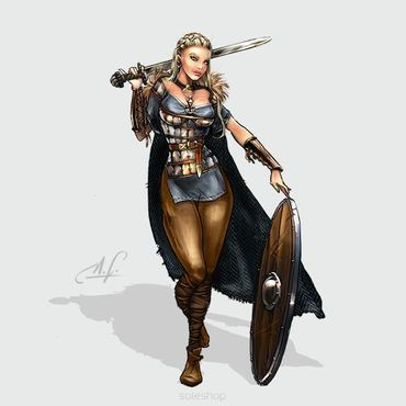 Lagertha the Shieldmaiden 28mm