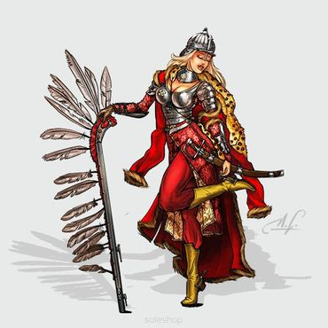 Olenka the Winged Hussar 54mm