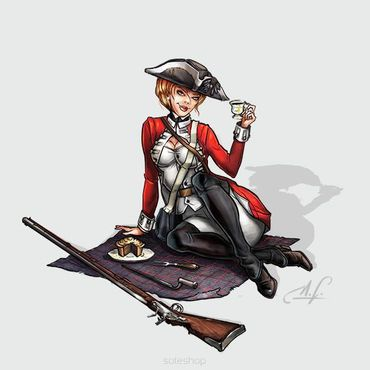 Rebecca the Red Coat 54mm