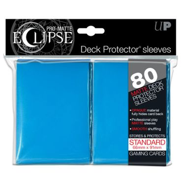 Ultra Pro Matte Eclipse Standard Sleeves Light Blue (80)
