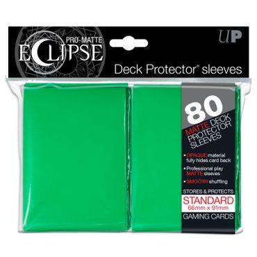 Ultra Pro Matte Eclipse Standard Sleeves Green (80)
