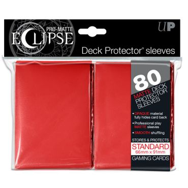 Ultra Pro Matte Eclipse Standard Sleeves Red (80)