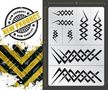 Elven Tribal Airbrush Stencil (Texture/Patern)
