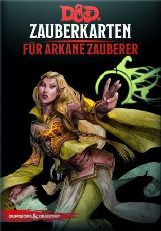 Dungeons & Dragons Zauberkarten für arkane Zauberer (Deutsch)
