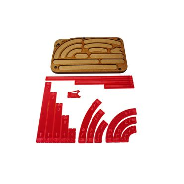 X-Wing Space Fighter Manouver Tray Red Templates – Bild 1