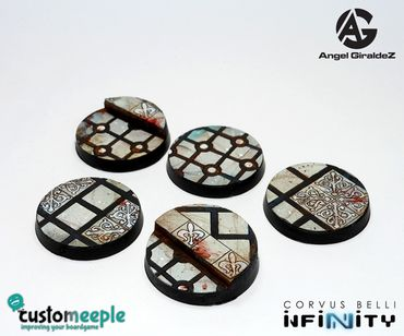 Infinity Military Orders Base Tops by Giraldez 25mm (5) – Bild 1